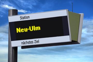 Anzeigetafel 6 - Neu-Ulm