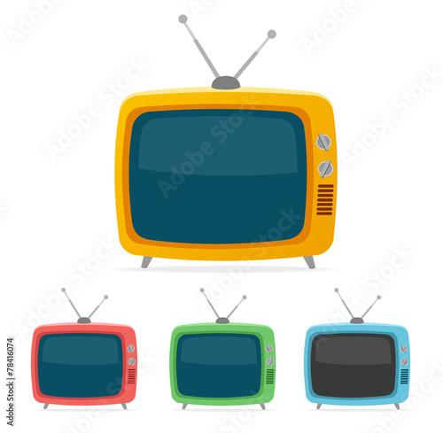 Vector retro tv set. Flat Design - 78416074