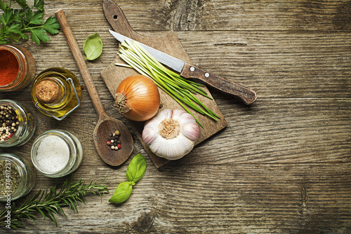 Tuinposter Koken Ingredients