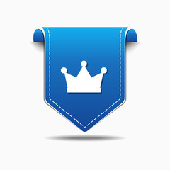 Crown blue Vector Icon Design