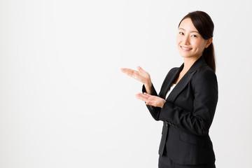 asian businesswoman on white backgroound