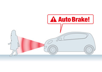 Brake assist system illustration