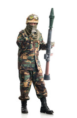 Soldier with a weapon