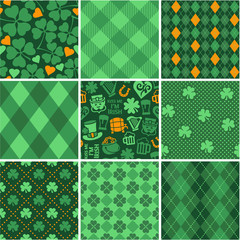Set of St. Patrick's Day Seamless Patterns
