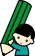 鉛筆・男の子