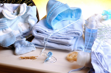 Clothing and accessories newborn top view