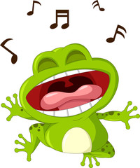 funny frog cartoon singing