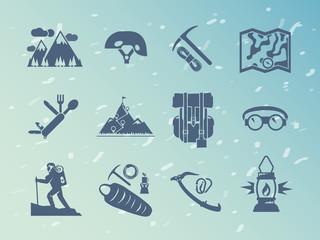Simple black  vector icons set . Quality design illustrations