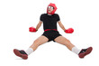 Funny boxer isolated on the white - 78418815
