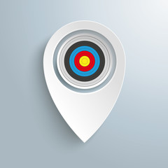 White Location Marker Target