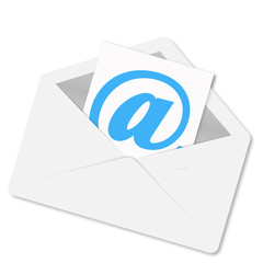 Envelope with shadow mail vector illustration
