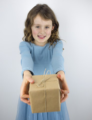 girl giving present