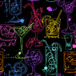 Sketch seamless pattern of cocktails - 78420446