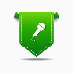 Microphone Green Vector Icon Design