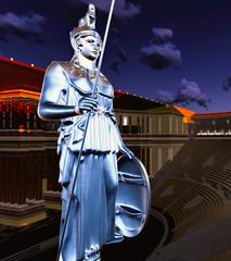 Greek Athena in theatre