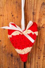 plush red heart