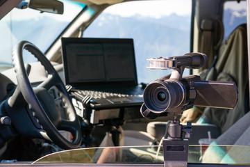 Photographers Gear Van Cockpit Professional Jounalist Video