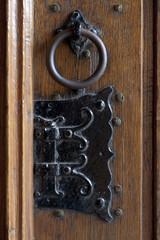 Detail of an antique doorknocker