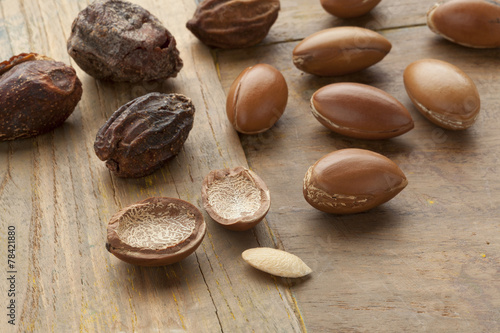 Foto op Canvas Marokko Argan nuts