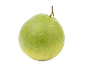 sweet fresh green grapefruit isolated on white background