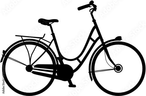 Fahrrad Vektor Silhouette - 78422019