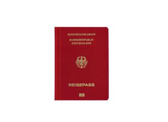 germany passport white background close up