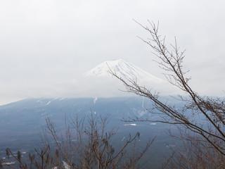 Winter at the volcano Fuji