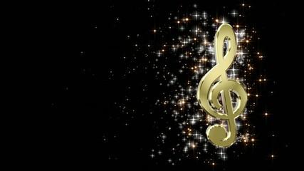 движение скрипичного ключа по видеокадру