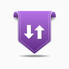 Up Down Arrow Purple Vector Icon Design