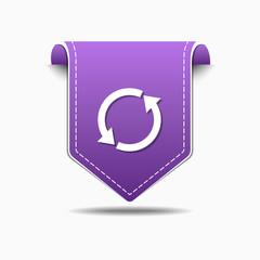 Recycle Arrow Purple Vector Icon Design