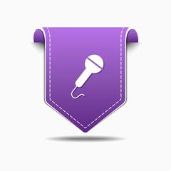 Microphone Purple Vector Icon Design