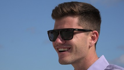 Confident Man Wearing Sunglasses