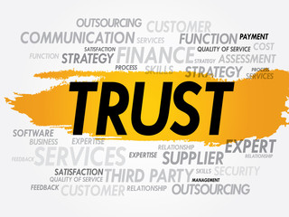 TRUST word cloud, business concept