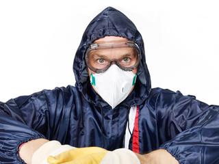 Pest controler at work