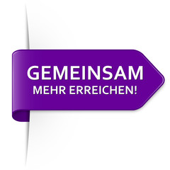 Langer purpurner Sticker Pfeil – Gemeinsam mehr erreichen!