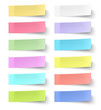 Colour sticky notes isolated on white background - 78423663