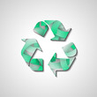 Recycle Symbol, abstract style illustration
