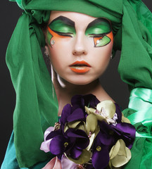 woman with creative make up