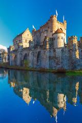 Medieval castle Gravensteen in Gent, Belgium