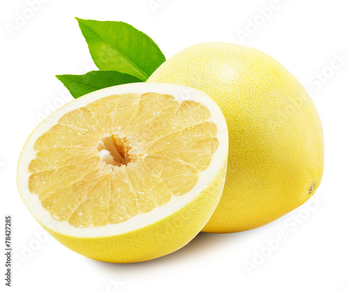 Papiers peints Fruits Pomelo or Chinese grapefruit isolated on the white background