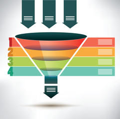 Funnel flow chart template