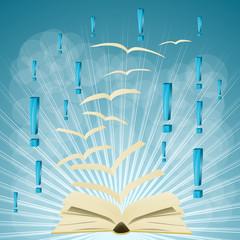 książka i wykrzykniki