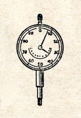 Dial gauge (distance amplifying instrument)