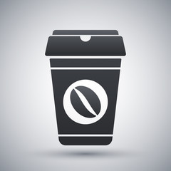 Coffee cup icon, vector