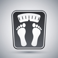 Bathroom scales icon, vector