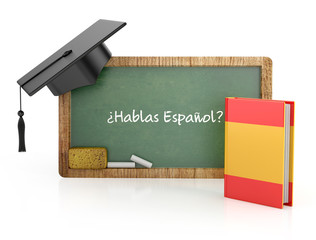 Spanish learning concept
