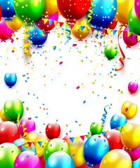 Colorful birthday background with place for your text
