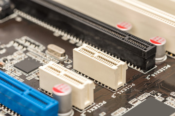 PCI Connector Slots On Computer Motherboard