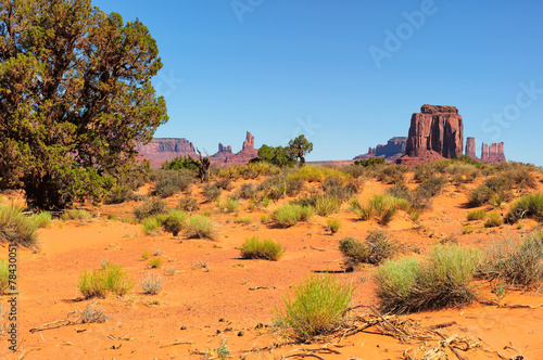 Monument Valley West and East Mittens Butte Utah National Park - 78430051