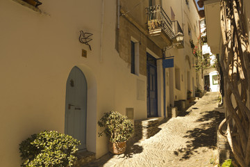 Mediterranean alley, Costa Brava, Spain